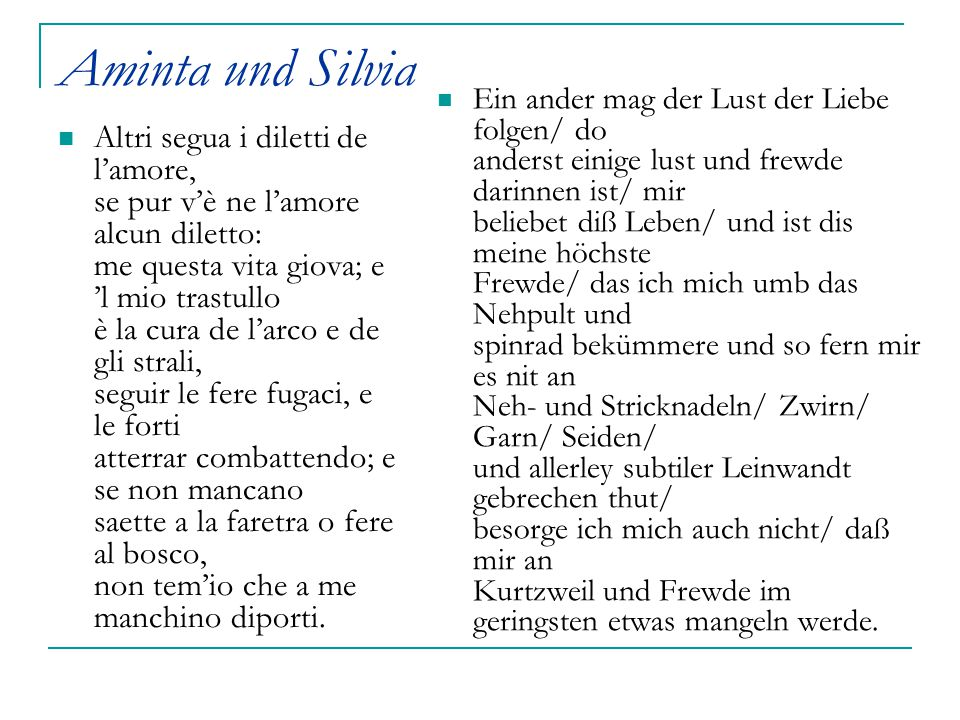 Aminta und Silvia