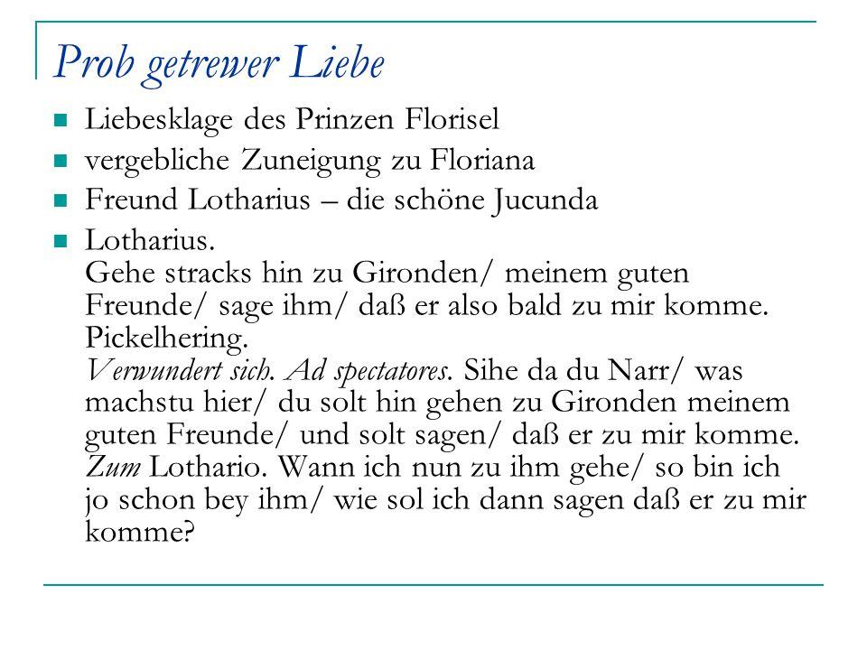 Prob getrewer Liebe Liebesklage des Prinzen Florisel