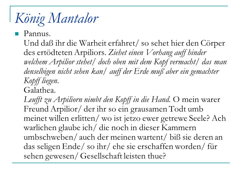 König Mantalor