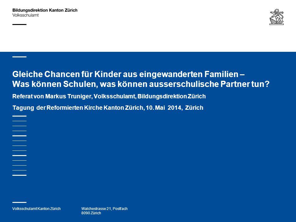 Gleiche Chancen für Kinder aus eingewanderten Familien – Was können Schulen, was können ausserschulische Partner tun