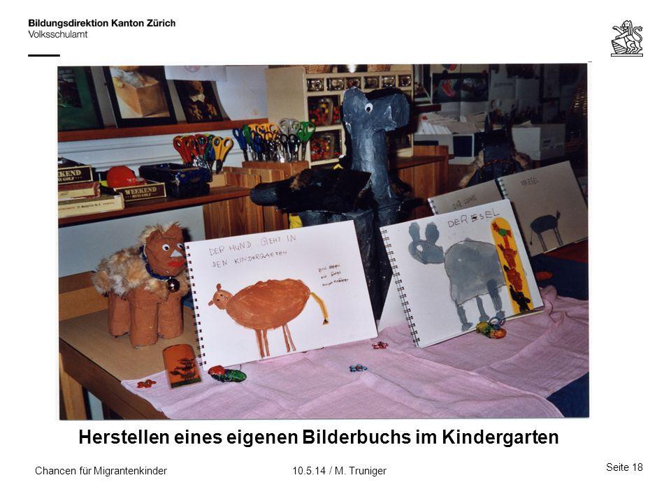 Herstellen eines eigenen Bilderbuchs im Kindergarten