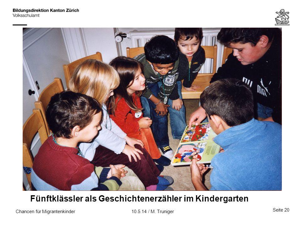 Fünftklässler als Geschichtenerzähler im Kindergarten