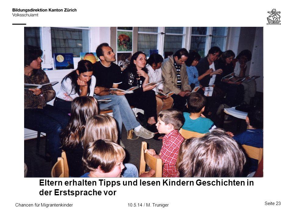 Eltern erhalten Tipps und lesen Kindern Geschichten in der Erstsprache vor
