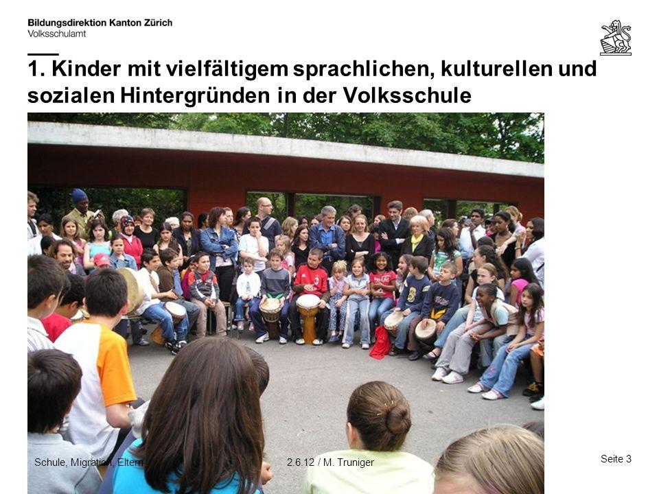 1. Kinder mit vielfältigem sprachlichen, kulturellen und sozialen Hintergründen in der Volksschule