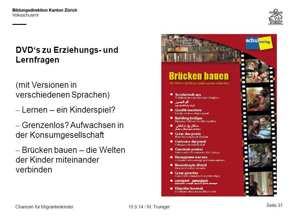 DVD's zu Erziehungs- und Lernfragen