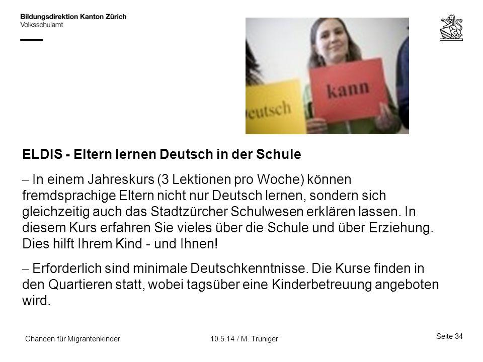 ELDIS - Eltern lernen Deutsch in der Schule
