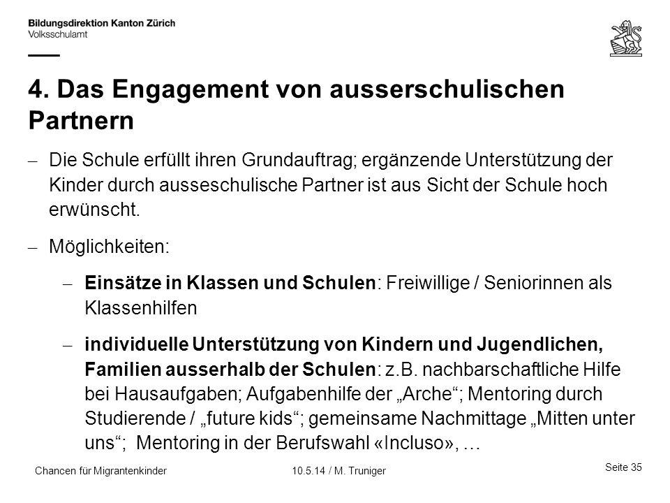 4. Das Engagement von ausserschulischen Partnern