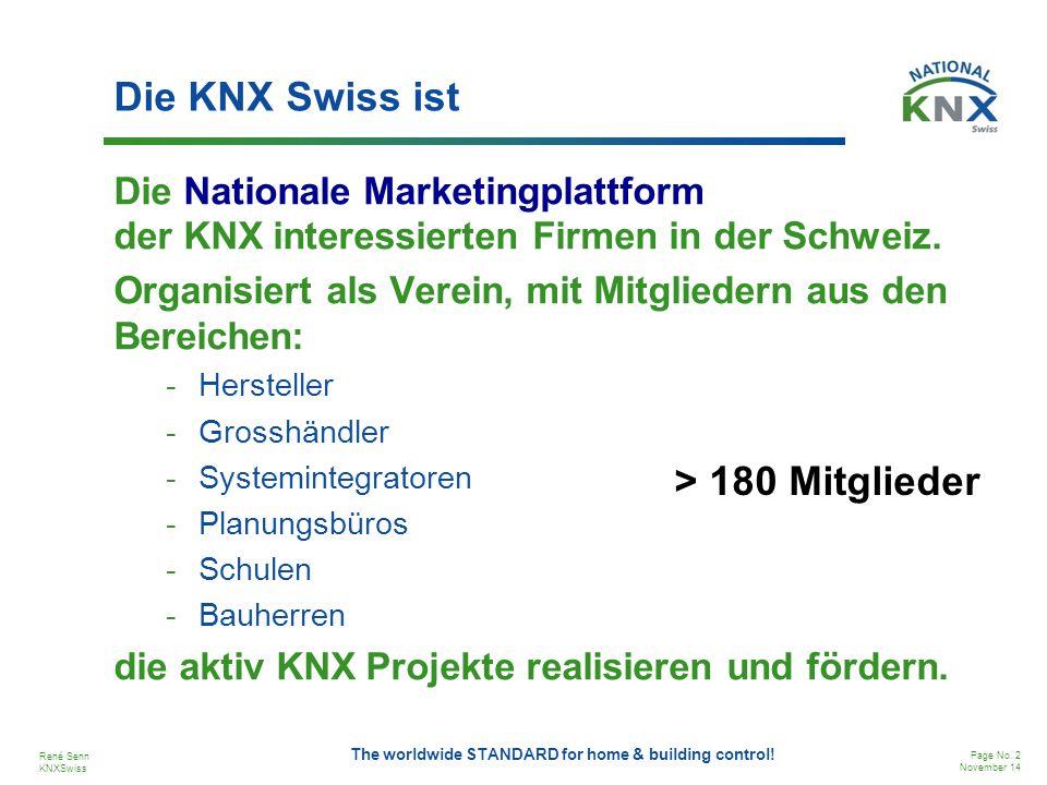Die KNX Swiss ist > 180 Mitglieder