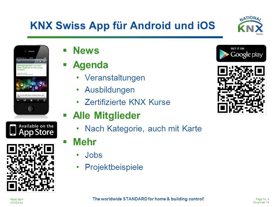 KNX Swiss App für Android und iOS