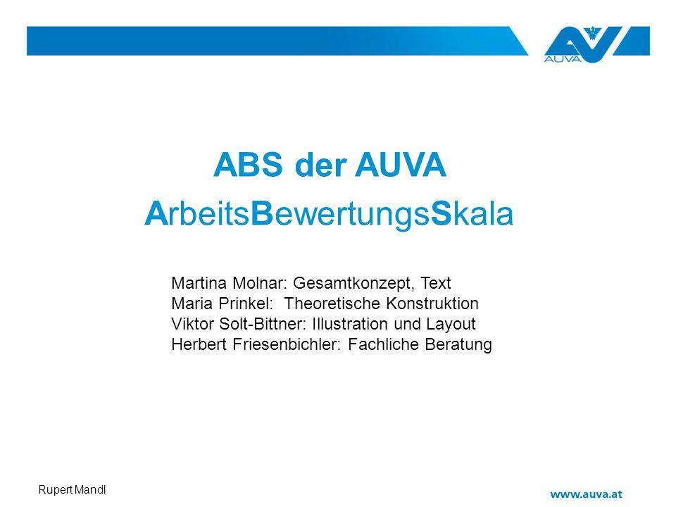 ABS der AUVA ArbeitsBewertungsSkala