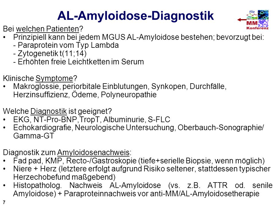 AL-Amyloidose-Diagnostik