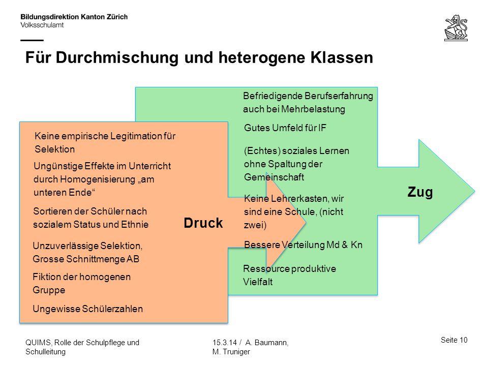 Für Durchmischung und heterogene Klassen
