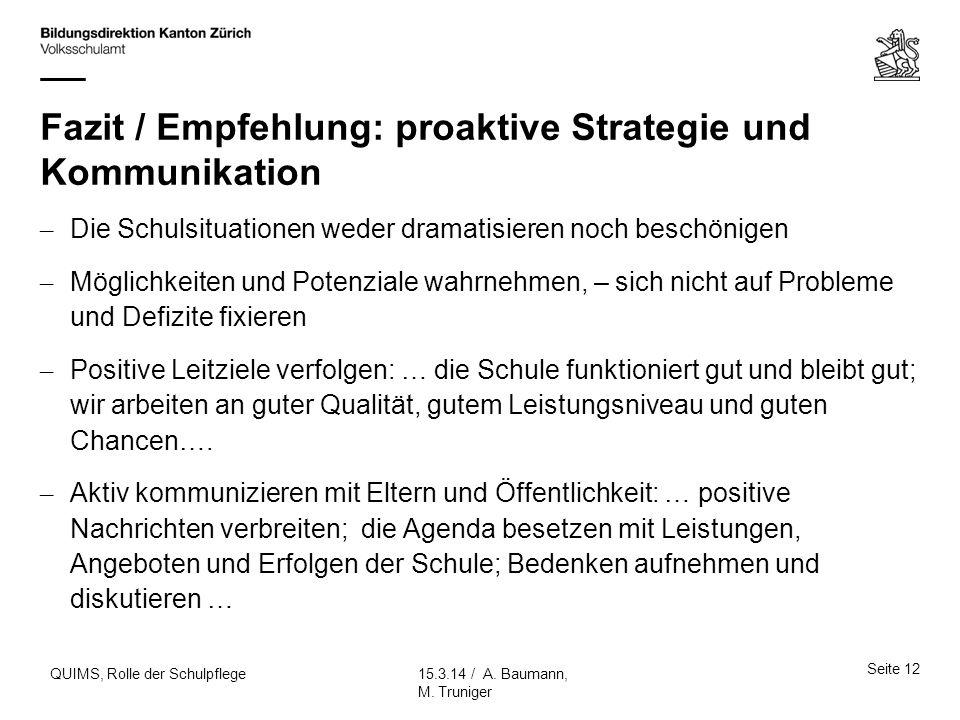 Fazit / Empfehlung: proaktive Strategie und Kommunikation