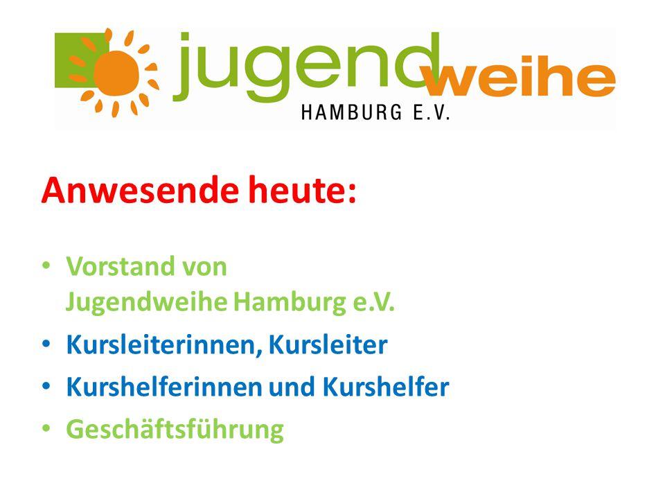 Anwesende heute: Vorstand von Jugendweihe Hamburg e.V.