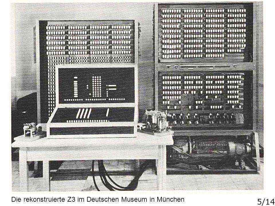 Die rekonstruierte Z3 im Deutschen Museum in München
