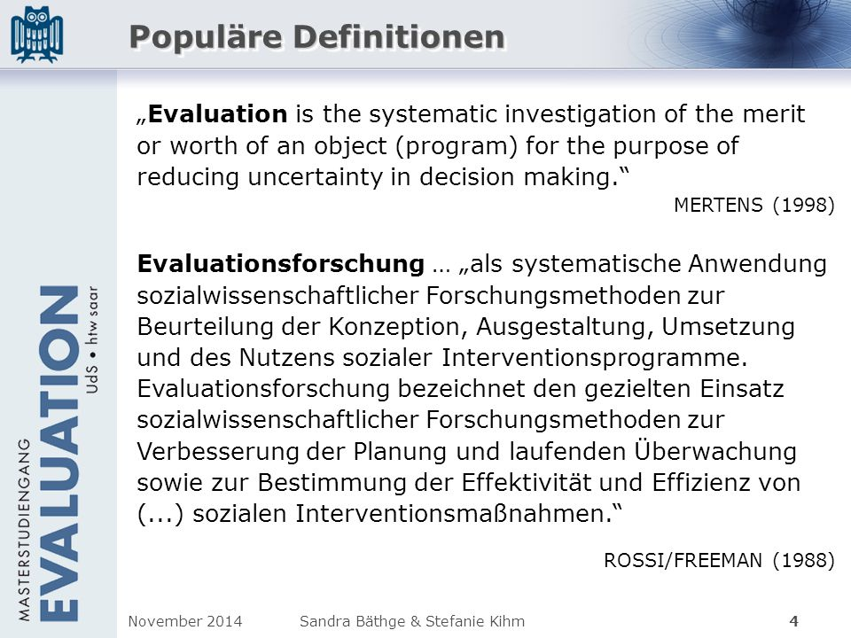 Populäre Definitionen