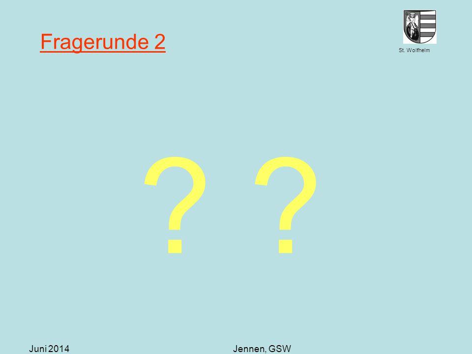 Fragerunde 2 Juni 2014 Jennen, GSW