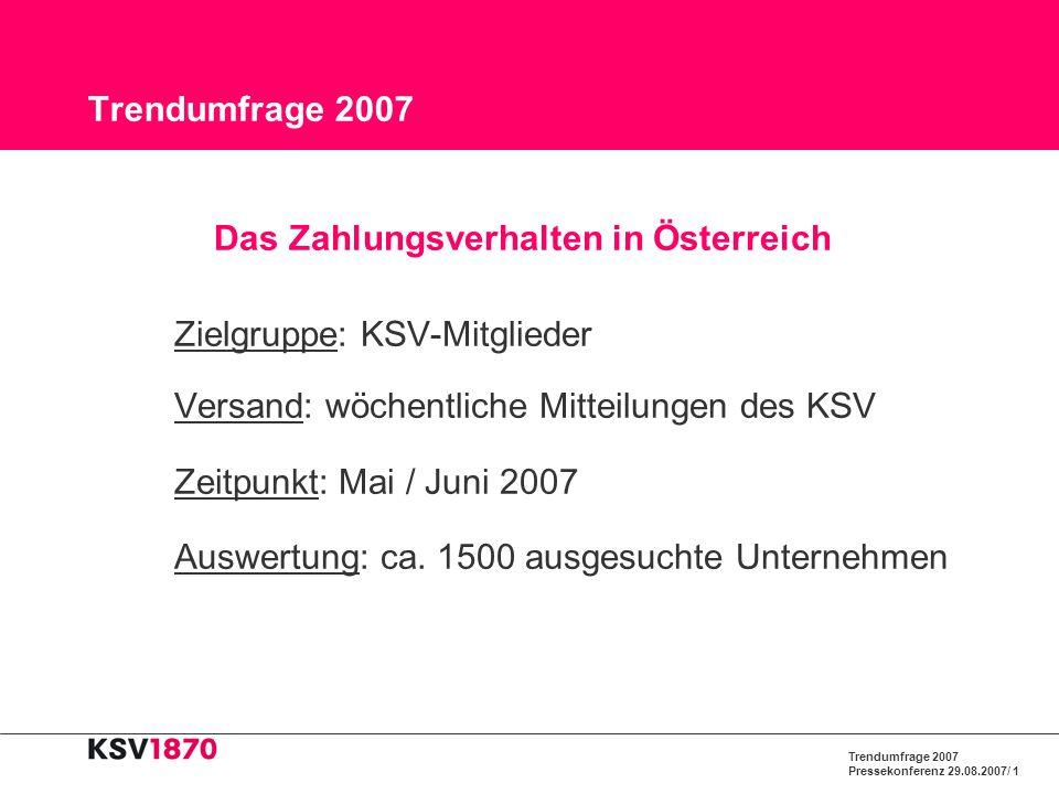 Das Zahlungsverhalten in Österreich