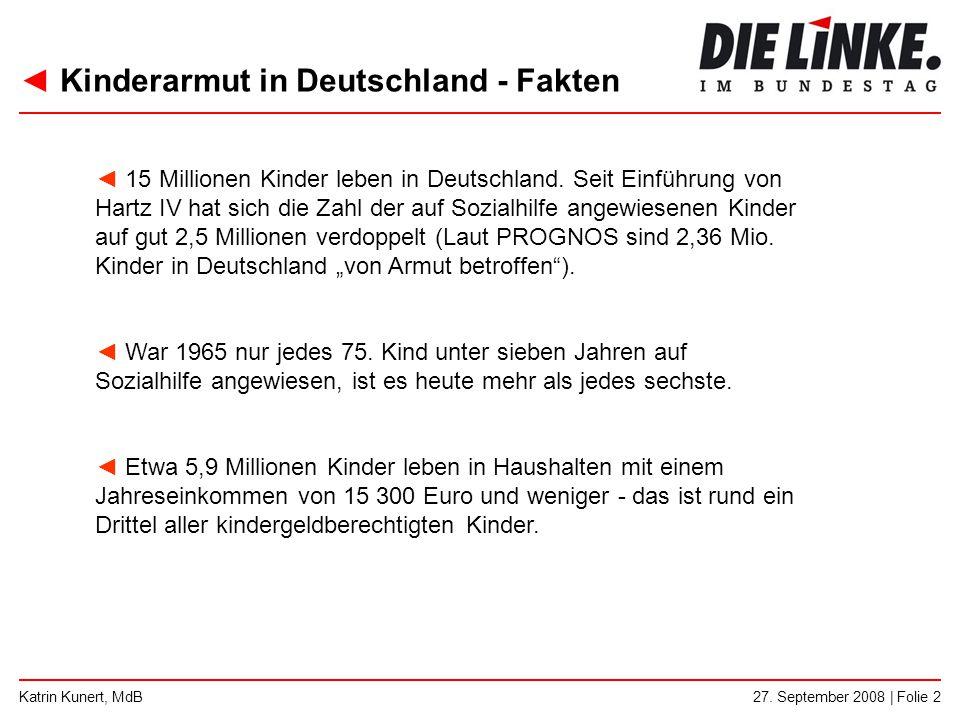 Kinderarmut in Deutschland - Fakten