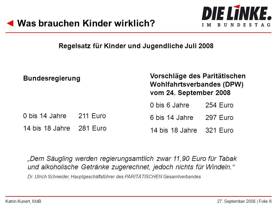 Regelsatz für Kinder und Jugendliche Juli 2008