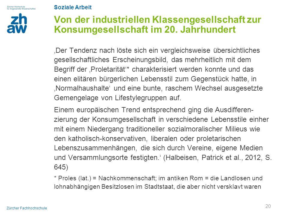 Von der industriellen Klassengesellschaft zur Konsumgesellschaft im 20