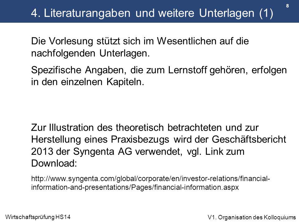 4. Literaturangaben und weitere Unterlagen (1)