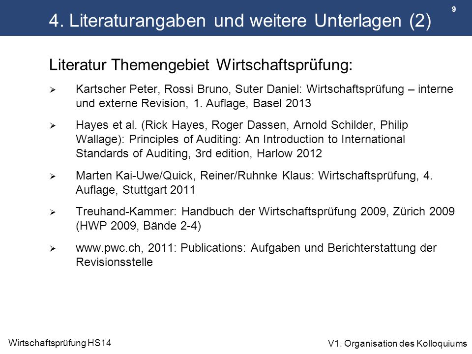 4. Literaturangaben und weitere Unterlagen (2)