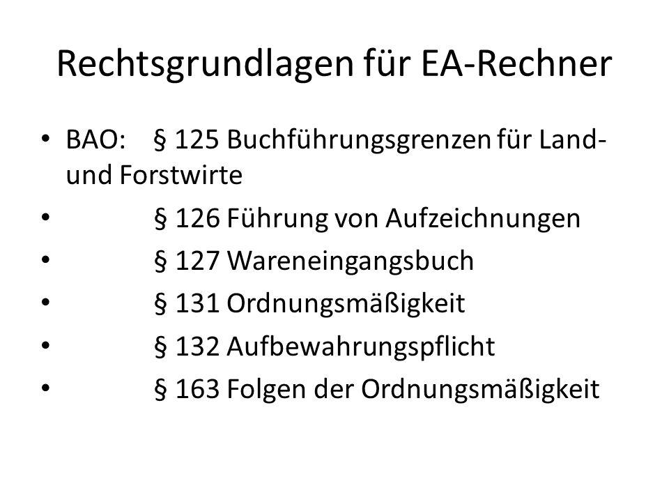 Rechtsgrundlagen für EA-Rechner