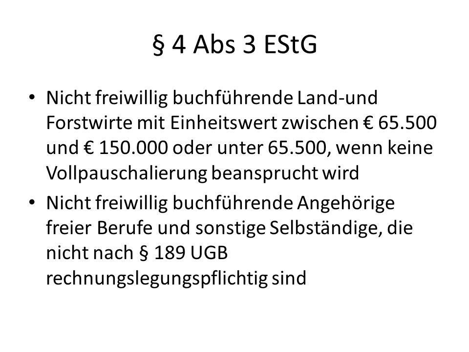 § 4 Abs 3 EStG