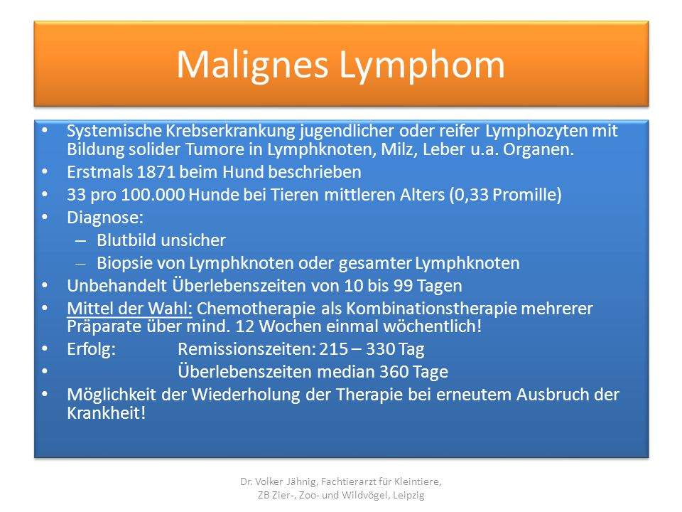 Malignes Lymphom