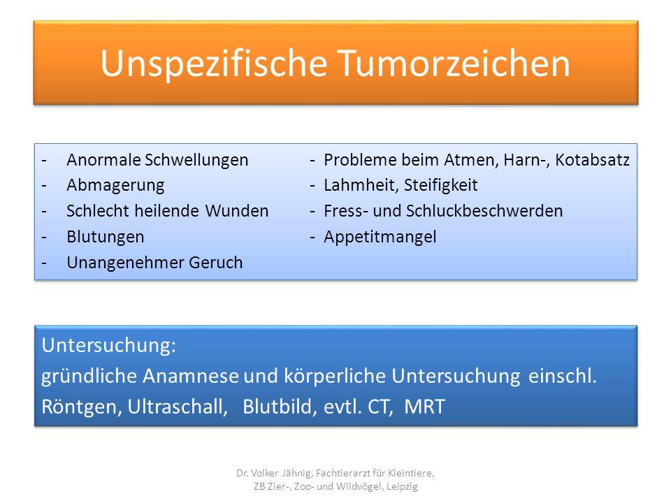 Unspezifische Tumorzeichen
