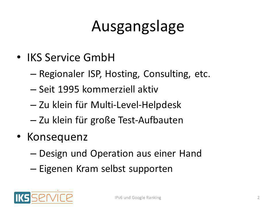 Ausgangslage IKS Service GmbH Konsequenz