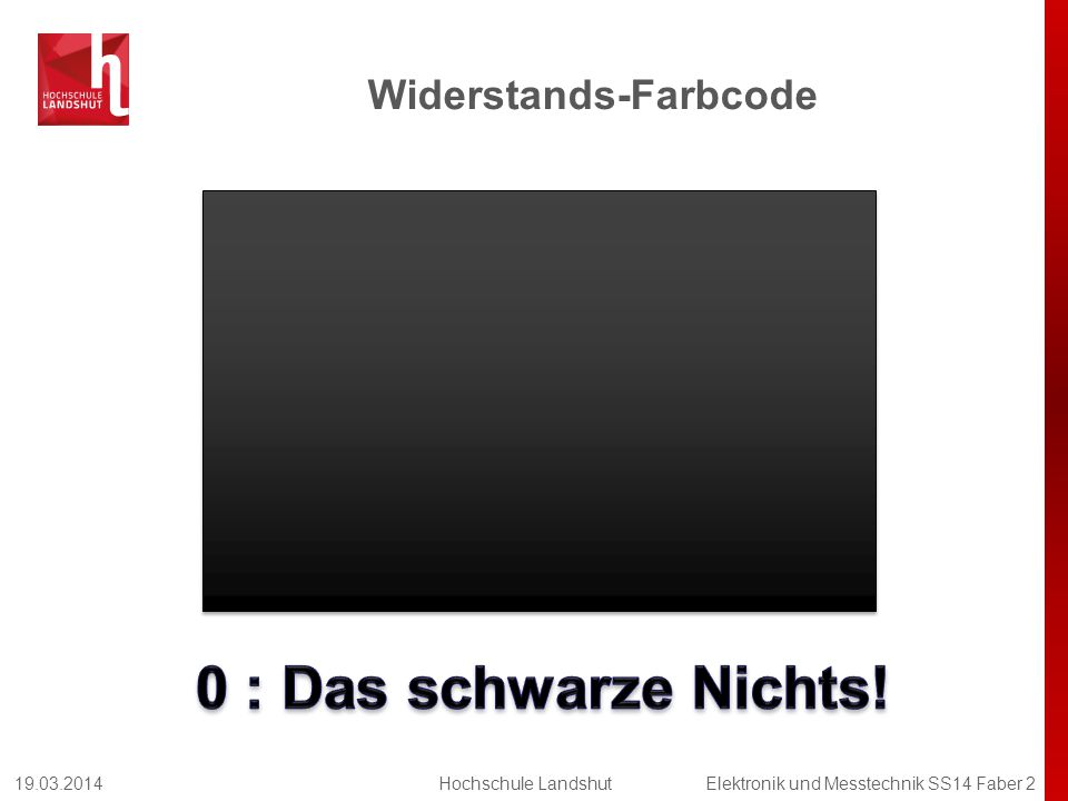 Widerstands-Farbcode