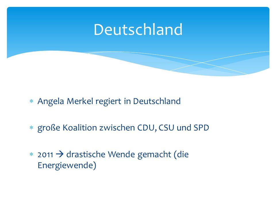 Deutschland Angela Merkel regiert in Deutschland