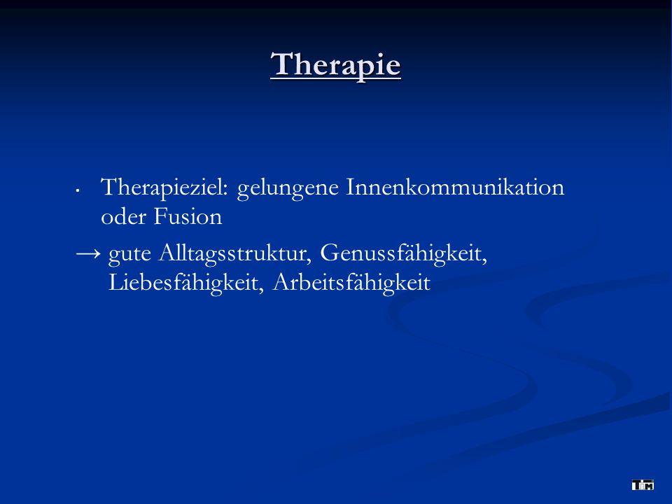Therapie Therapieziel: gelungene Innenkommunikation oder Fusion