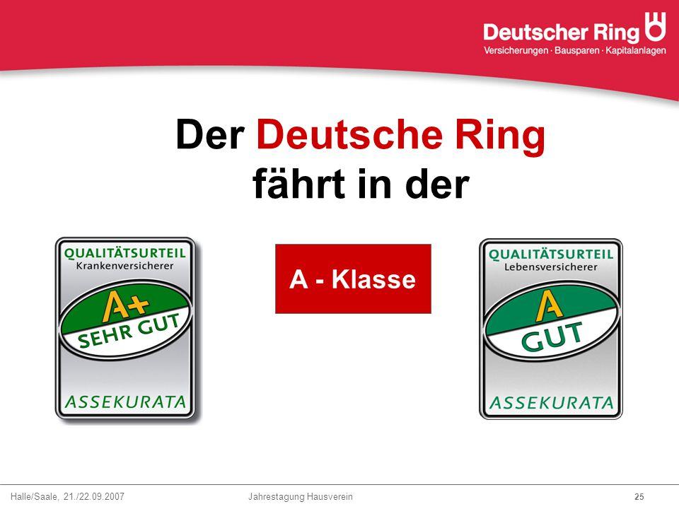 Der Deutsche Ring fährt in der