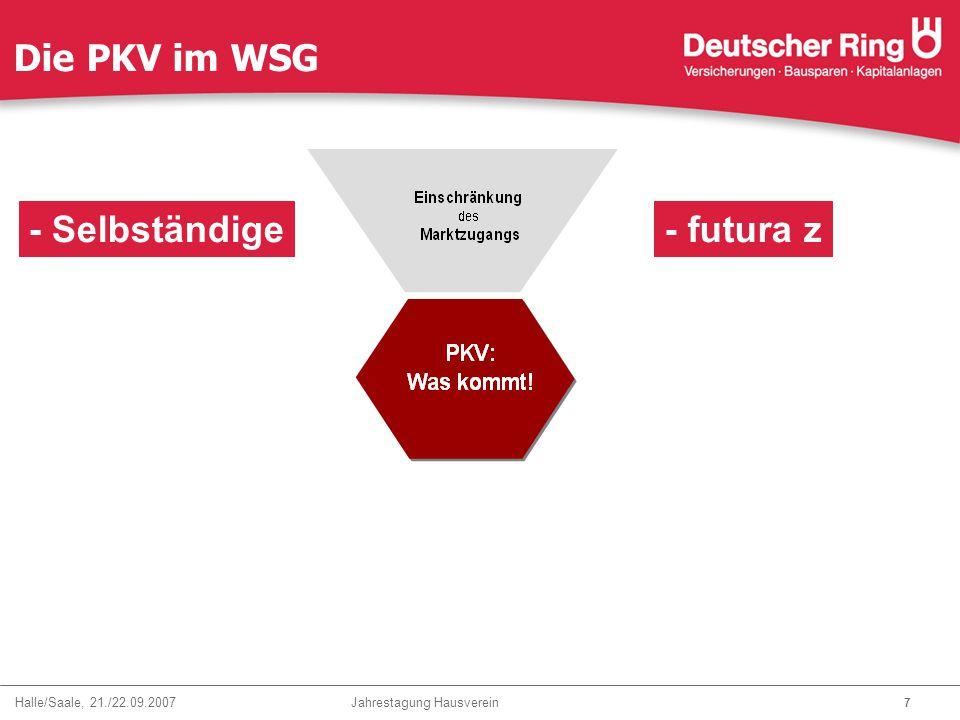 Die PKV im WSG - Selbständige - futura z