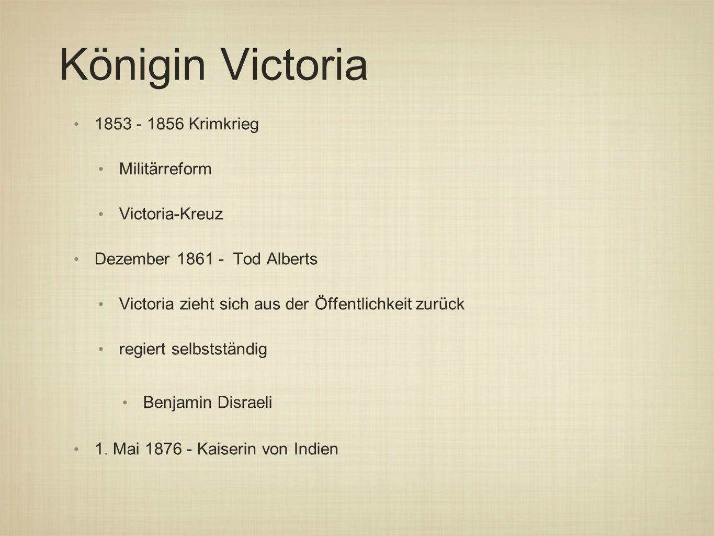Königin Victoria 1853 - 1856 Krimkrieg Militärreform Victoria-Kreuz