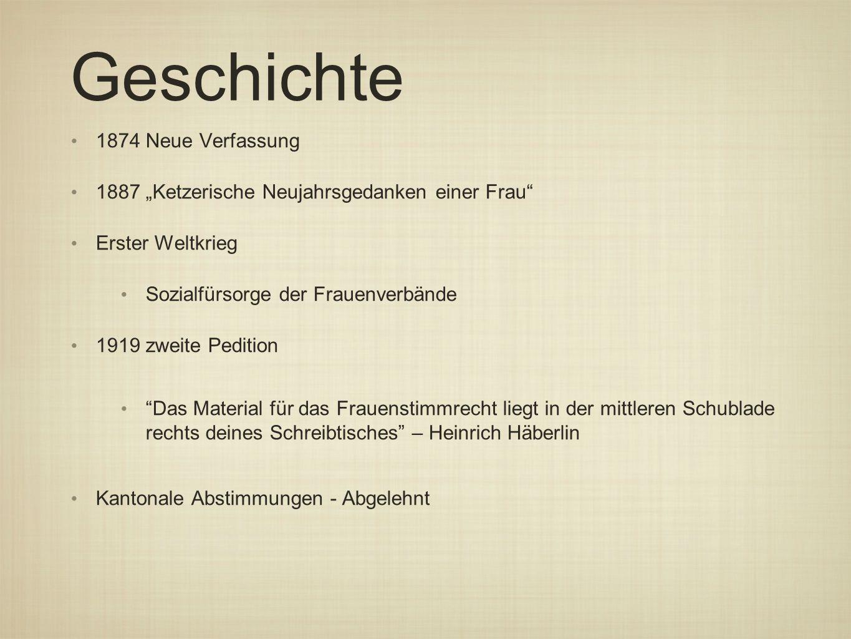 Geschichte 1874 Neue Verfassung