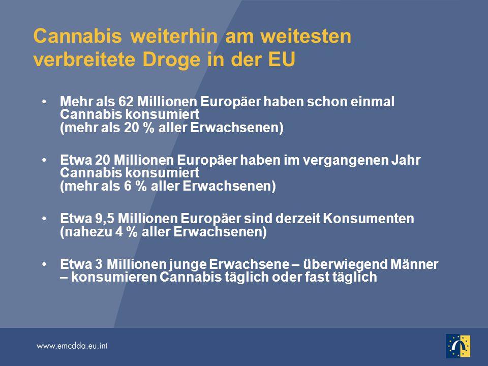Cannabis weiterhin am weitesten verbreitete Droge in der EU
