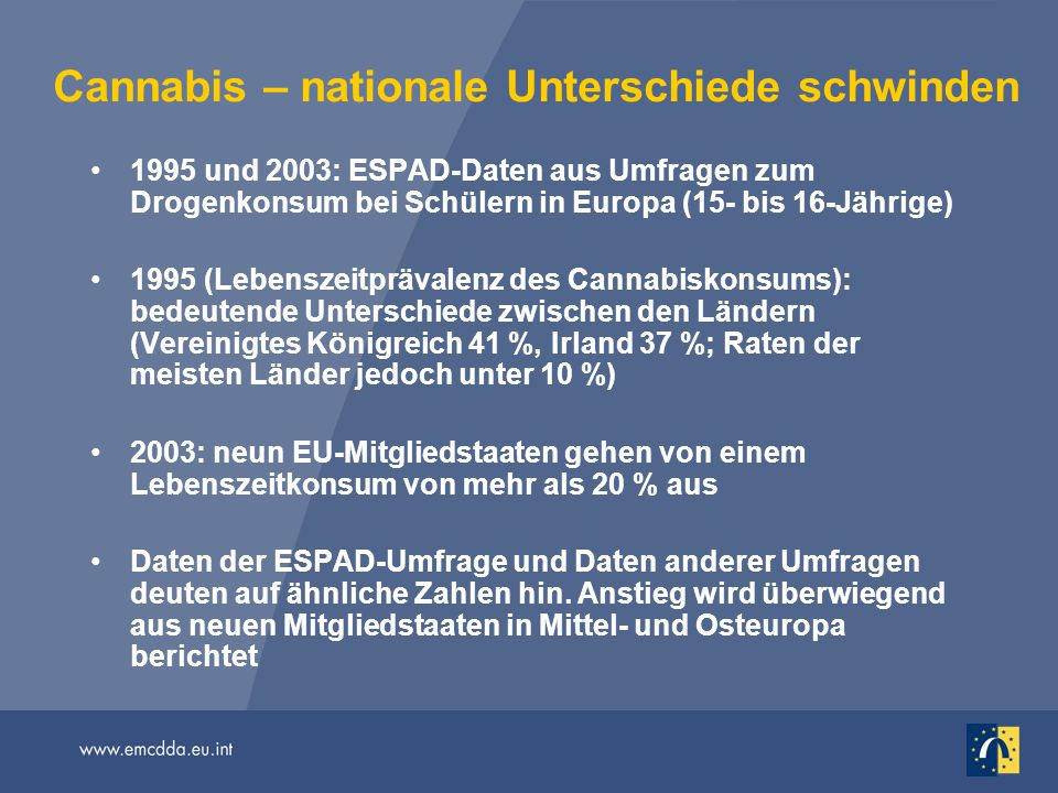 Cannabis – nationale Unterschiede schwinden