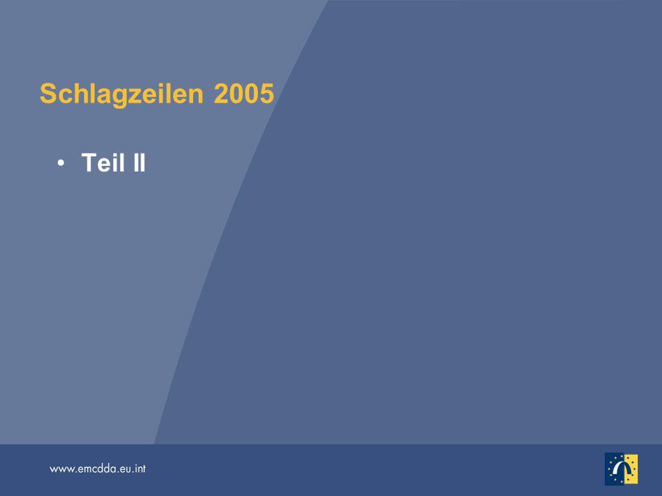 Schlagzeilen 2005 Teil II.