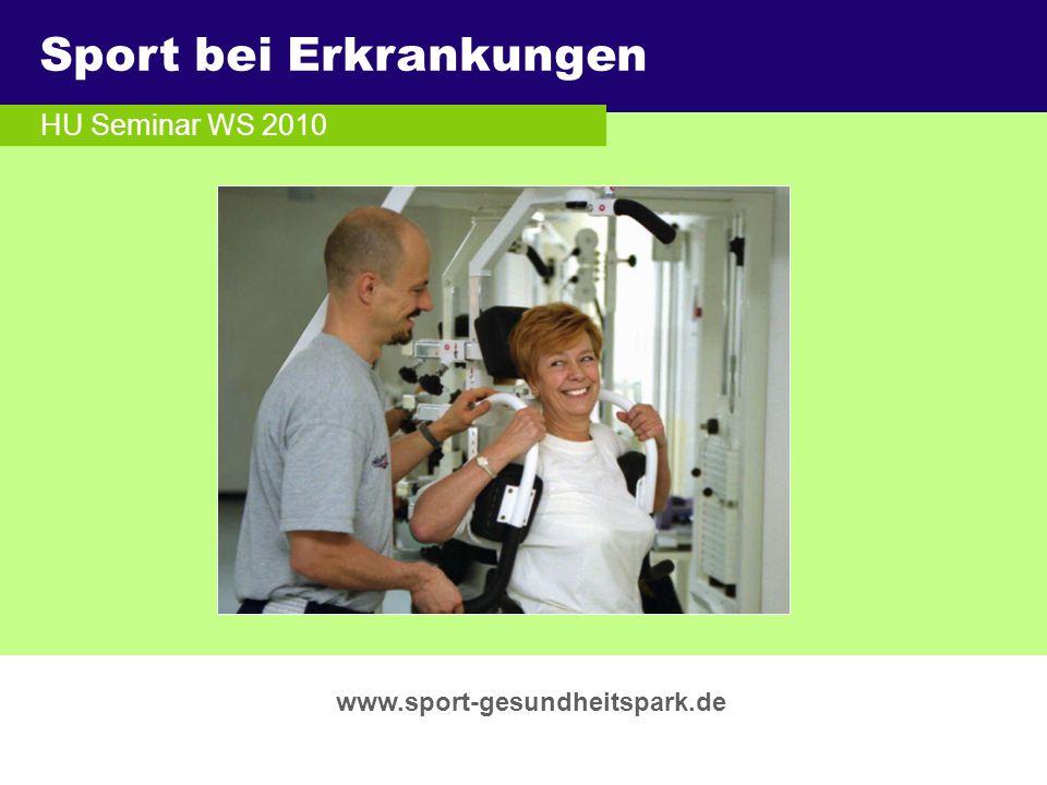 Sport bei Erkrankungen Überschrift