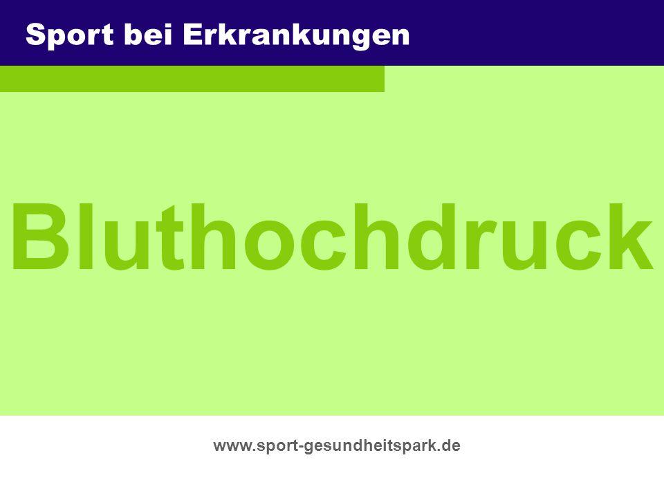 Bluthochdruck Sport bei Erkrankungen Überschrift Untertitel