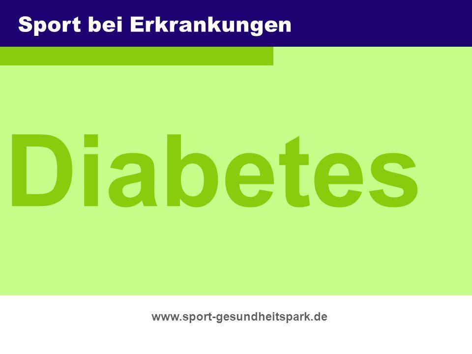 Diabetes Sport bei Erkrankungen Überschrift Untertitel