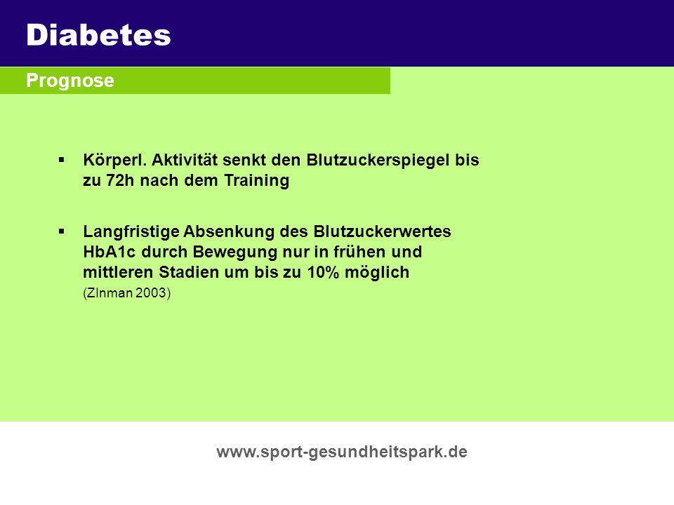 Diabetes Überschrift Prognose Untertitel