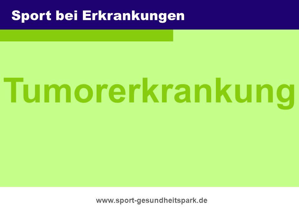 Tumorerkrankung Sport bei Erkrankungen Überschrift Untertitel