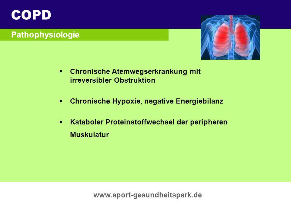 COPD Überschrift Pathophysiologie Untertitel