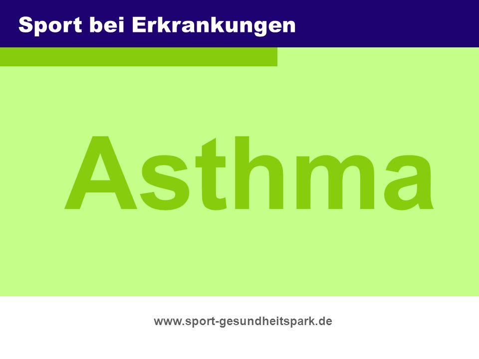 Asthma Sport bei Erkrankungen Überschrift Untertitel