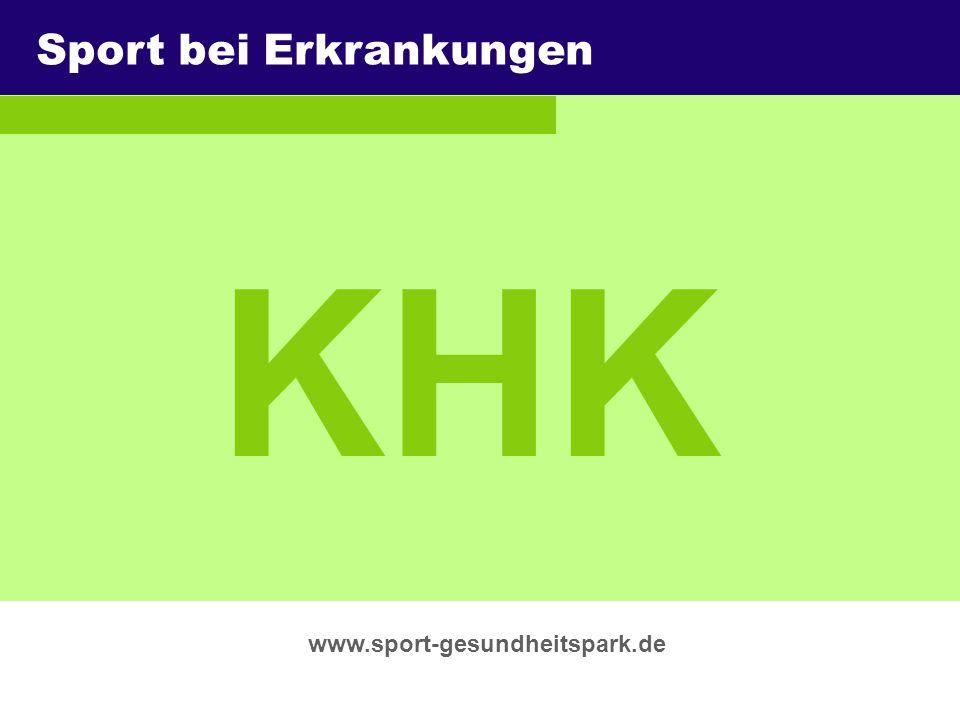 KHK Sport bei Erkrankungen Überschrift Untertitel